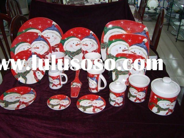 Xmas porcelain dinner set table ware