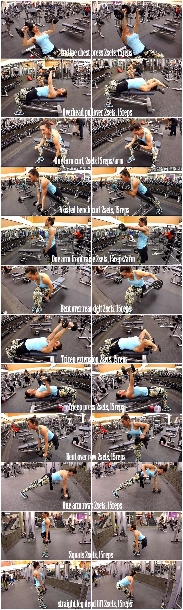 Home Gym - awesome Dumbbell Full Body Workout 2 (Fitness Food Diva) - http://amzn.to/2fSI5XT