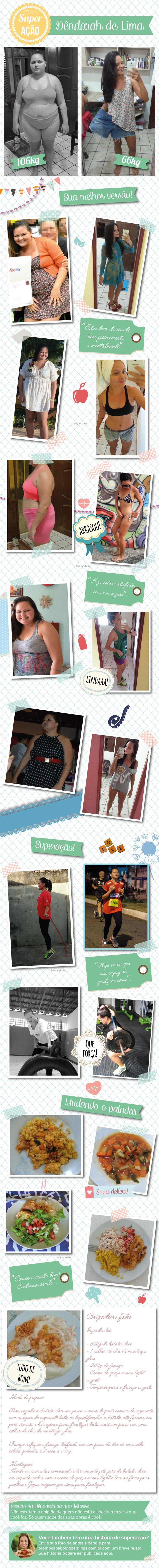 Superação Dêndarah: decidida, ela emagreceu 40kg em 4 meses - Blog da Mimis #emagrecer #dieta #perderpeso #sobrepeso #alimentação #loseweight