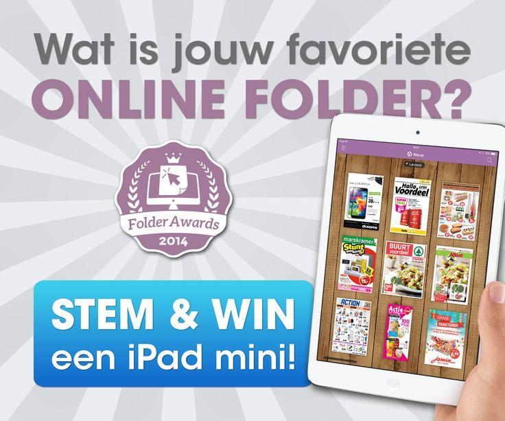 Wat is jouw favoriete online folder? Geef je stem via www.folderawards.nl en maak kans op een iPad mini. #win #folderawards
