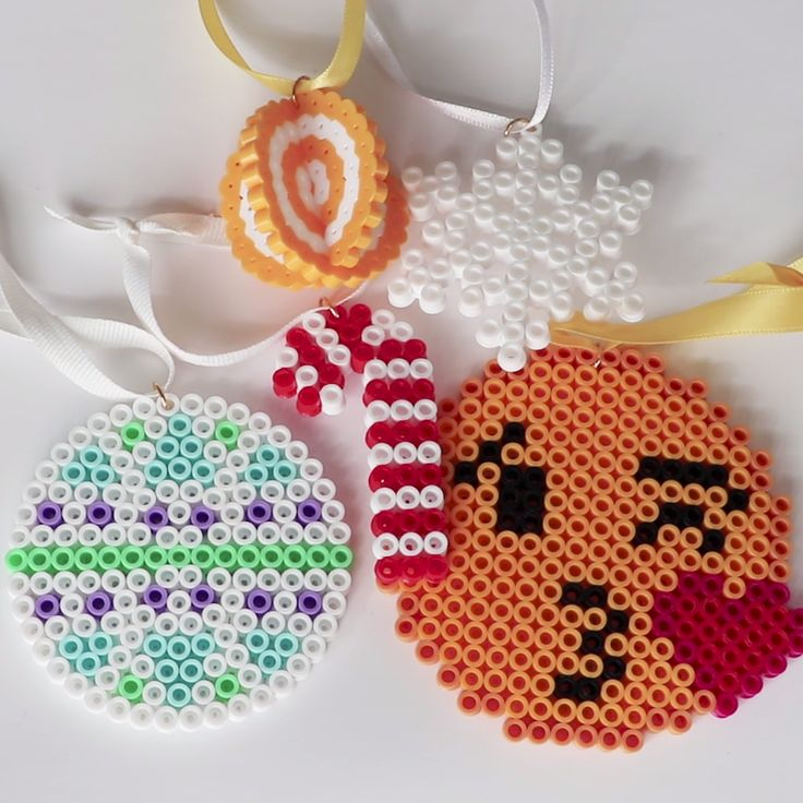 DIY Plastic Bead Christmas Ornaments                                                                                                                                                                                 More