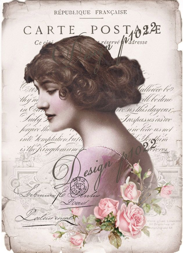 Vintage Lily Elsie digital collage p1022