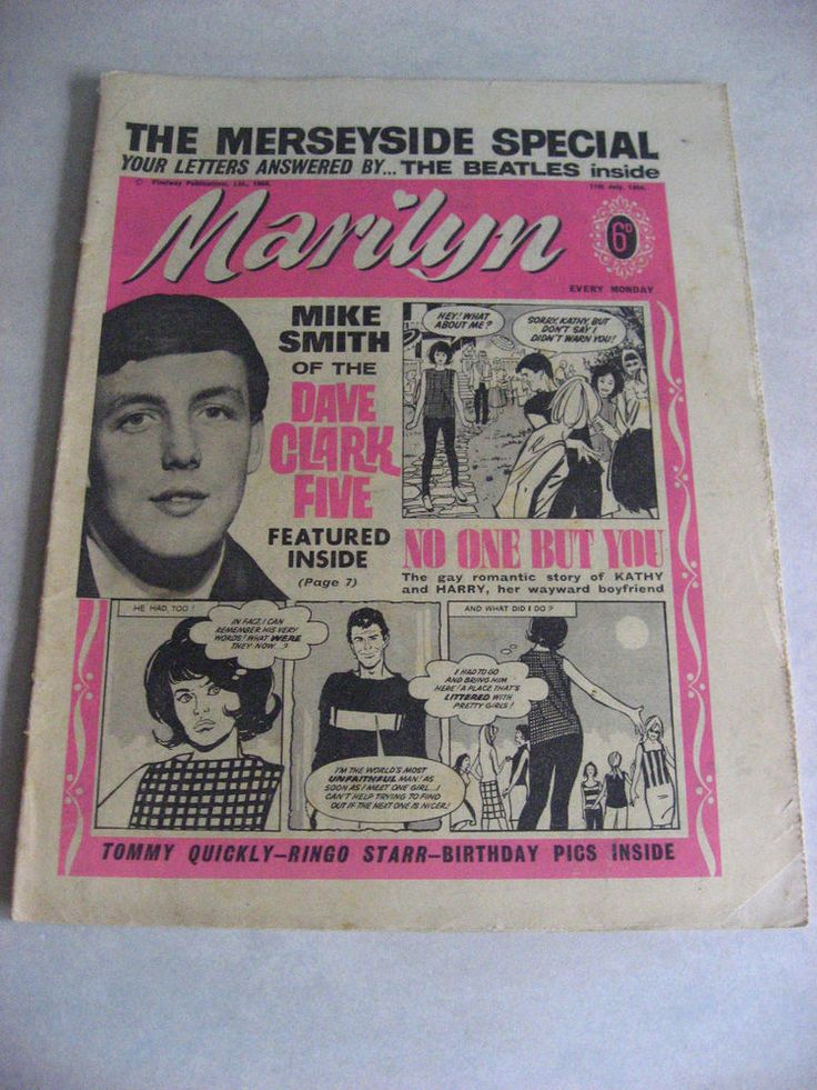 1964 MARILYN GIRLS COMIC THE BEATLES/THE DAVE CLARK FIVE 11TH JULY