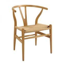 Replica Wishbone Chair - Beech | Clickon Furniture | Designer Modern Classic Furniture $179