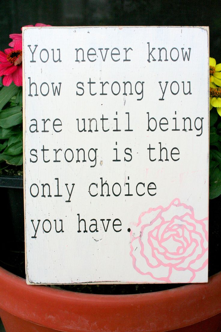 Strong quote hand painted distressed wood sign by caitcreate