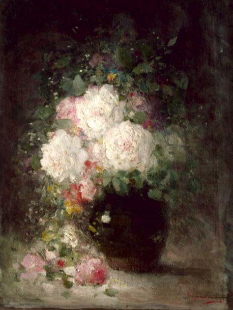 Nicolae Grigorescu - Vas cu flori