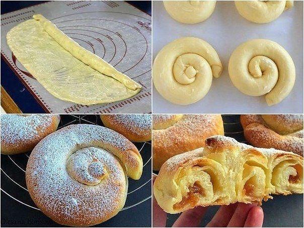 Фото к рецепту: Испанские булочки Ensaimadas