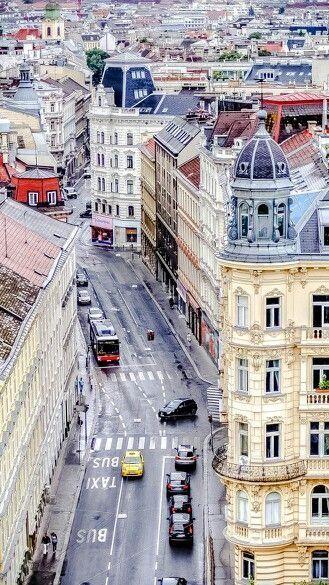 A walk through the city center of Vienna, Austria. Wien.