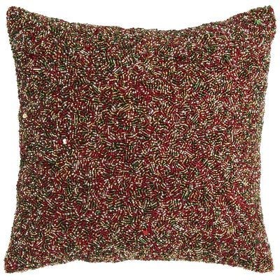 Beaded Holiday Pillow