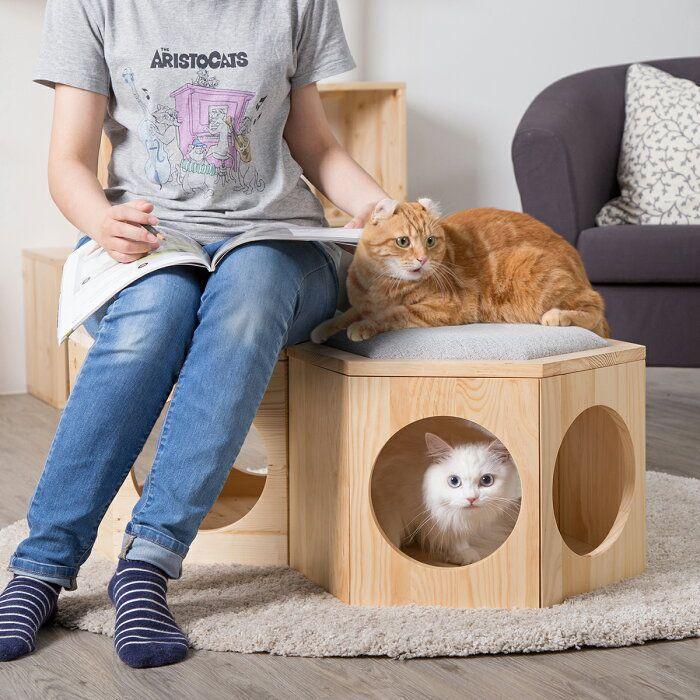 楽天市場 キャットタワー トンネル 多頭飼い かわいい 猫用 インテリア Myzoo マイズー 六角ハウスビジーキャット用 プレートクッション 蓋 のみパーツ販売 Sl Pt Sarasa Design Store 猫の家具 子猫 猫ハウス