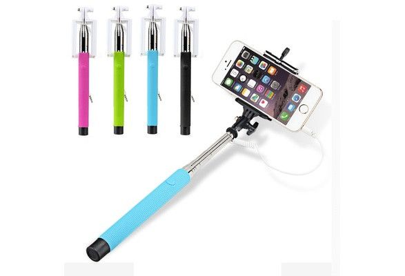 This wired selfie stick comes in handy and there's no need to charge it. Length of extension: 9 inches - 40 inches Flex sections: 7 Package includes: 1 X Monopod 1 X Mobile phone Clip