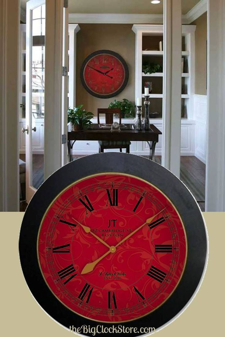 14 best clocks images on pinterest ideas 3 years and birdhouses this sydney red wall clock comes as small as amipublicfo Choice Image
