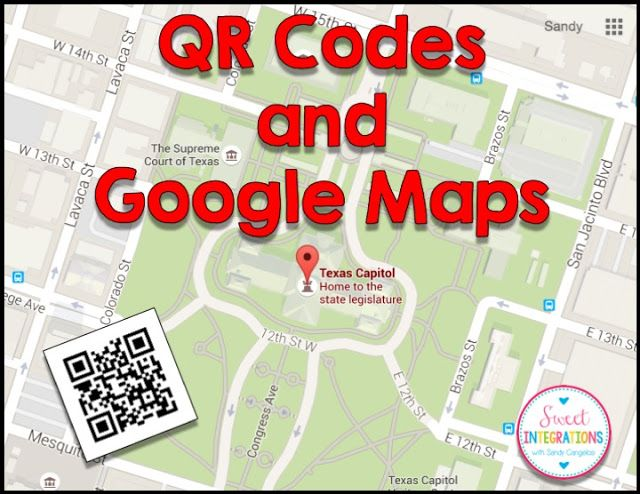 Learn about maps and locations while scanning QR Codes. This is step by step instructions in using Google Maps and QR Codes.