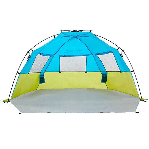 I just bought this and love it. Lightspeed Outdoors Quick Cabana Beach Tent Sun Shelter . you can see what others said about it here http://bridgerguide.com/lightspeed-outdoors-quick-cabana-beach-tent-sun-shelter-2/