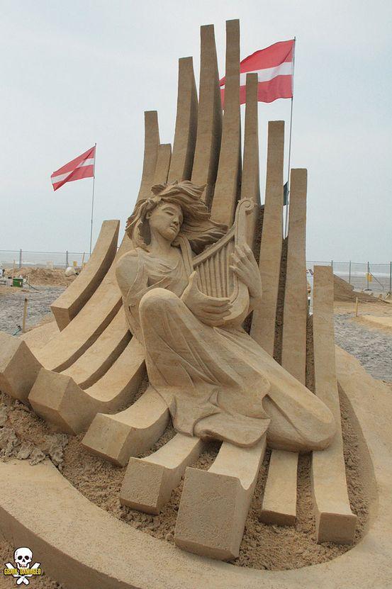 sculptures de sable par Carl Jara