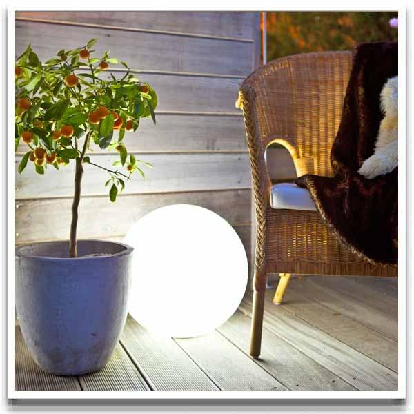 Uppladdningsbar utebelysning, LED-Lampa GP Colorplay Globe