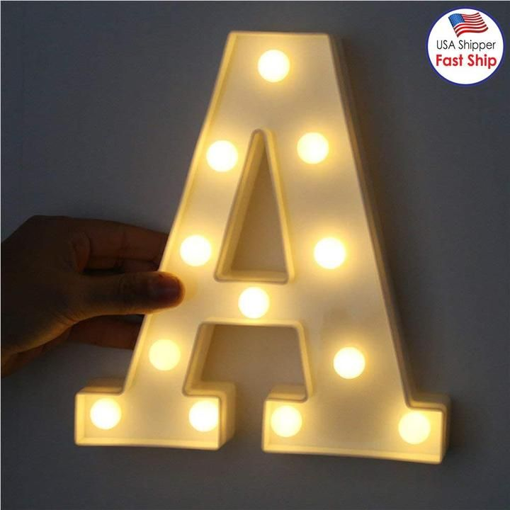 Create A Soft Warm And Romantic Atmosphere With 10 Warm White Led Lights Ideal Addition For A Wedding Par In 2020 Christmas Night Light Light Letters Night Light Lamp