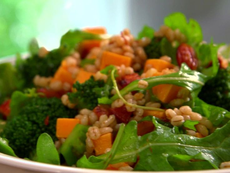 Broccoli and Barley Smoked Paprika Salad Recipe : Jamie Deen : Food Network - FoodNetwork.com