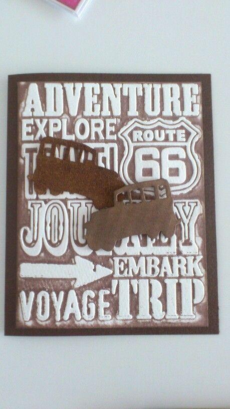 Embossed rejsekort