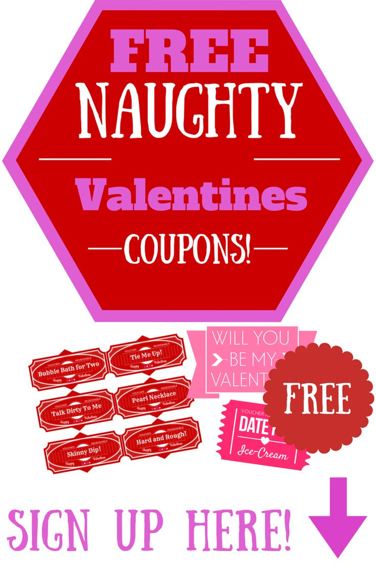 FREE Naughty Valentines Day Coupons for your Bae! -  