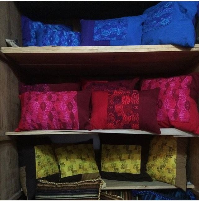 Some of our pillows at the store! We have an assortment of sizes and colors! Pick your favorite by visiting us in the store or online!!