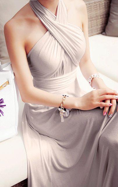 Elegant Halter Long Prom Dress,Charming Maxi Prom Dress,MB 400