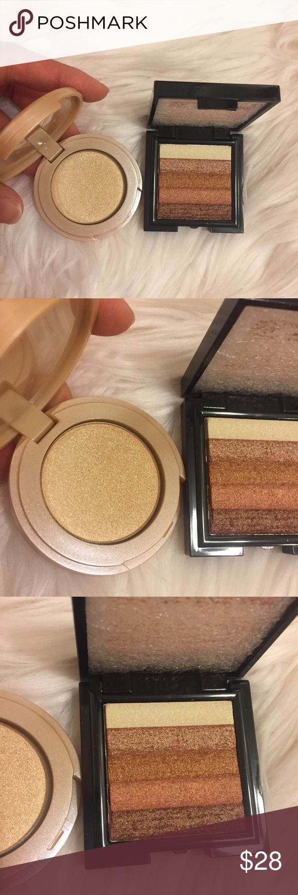 Tarte highlighter, Bobbi brown shimmer brick Travel size bundle. Never used new. Authentic from Sephora set purchase. No trades. tarte Makeup Bronzer
