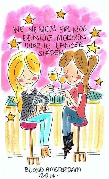 We nemen er nog eentje, morgen uurtje langer slapen (Wintertijd) - Blond Amsterdam