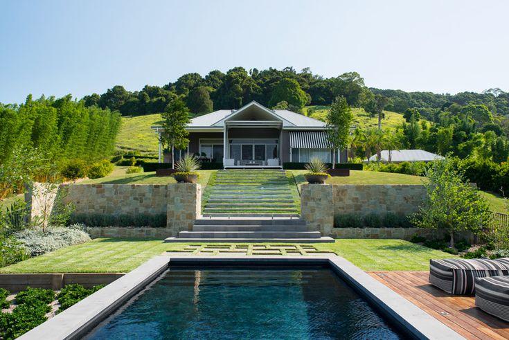Swimming pool on rural property on the east coast of  Australia