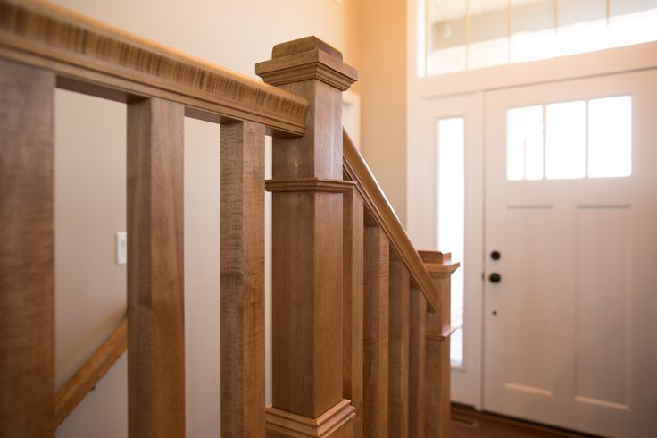 Stair systems maple newel posts handrail and straight for Pre built staircase