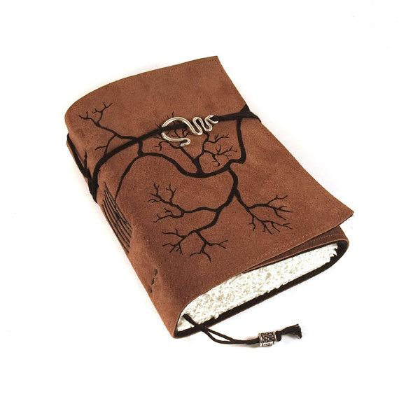 Handmade Leather Book Journal Diary Notebook, Roots