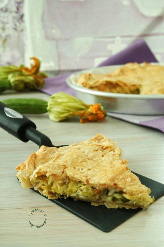 Torta salata stracchino e zucchine | I pasticci di mamma Alex
