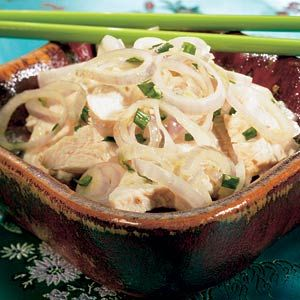 Recept - Witte kip met zoute sjalotjes - Allerhande