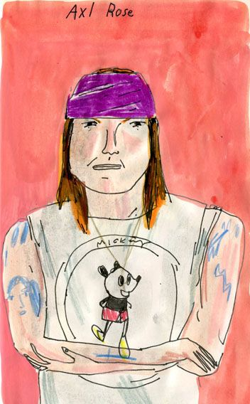 "illustrated-redheads: "" Axl Rose """