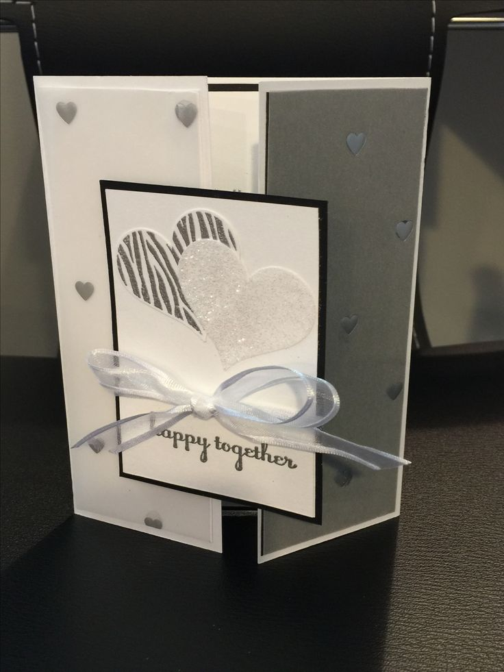 Stampin Up Wedding Card, Fancy Fold Wedding Card