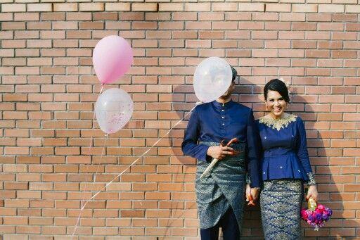 Songket wedding attire #malaywedding