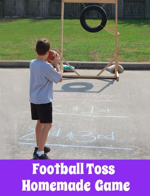 School Carnival Game - Football Toss. Check out this DIY game for your fundraising carnival!                                                                                                                                                     More