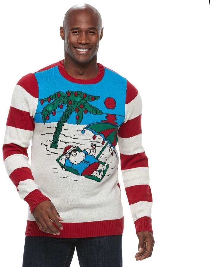 Big Tall Beach Ugly Christmas Sweater Mens Big And Tall Sweaters