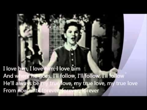 ▶ Little Peggy March (1963 original Live) - I will follow him - YouTube Sweet & I love her outfit !