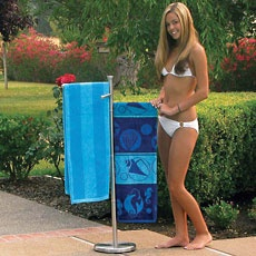 A Poolside Towel Tree is a great way to keep everyone's towels clean and dry!