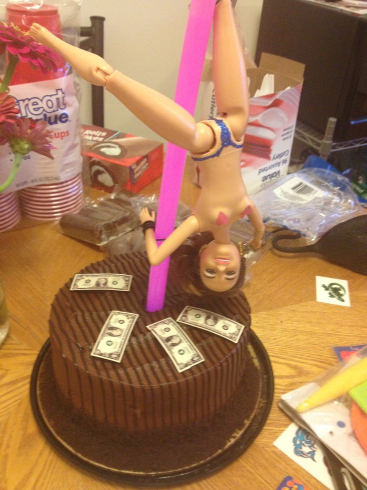 Barbie Stripper Pole Cake White Trash Party Ideas