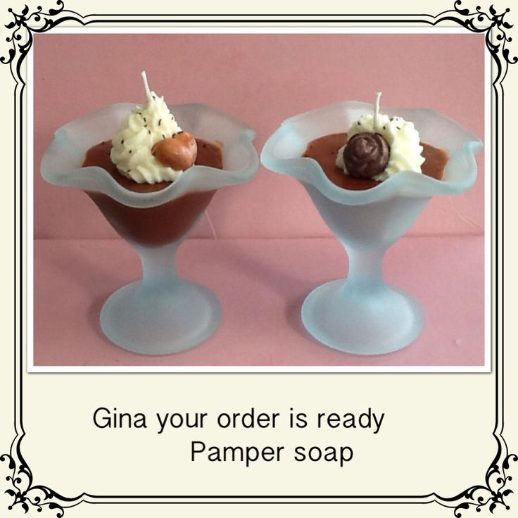 Dessert candles by pamper soap & body treats  find me on Facebook
