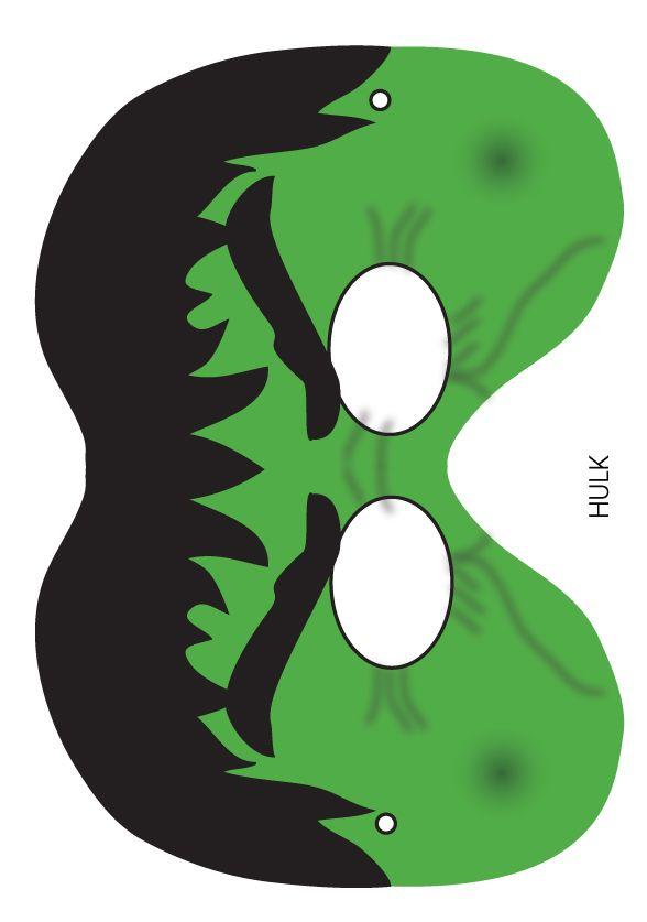 Incredible Hulk Printable Mask