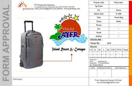Dengan Pengalaman hampir 15 tahun kami siap membuat yg terbaik bagi keperluan promosi atau kebutuhan tas koper bagi perusahaan anda.