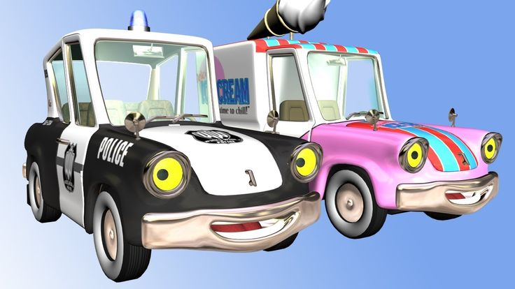 New Cartoon For Kids: Police Car Chasing Ice Cream Car #carsforkids #cartoonsforkids