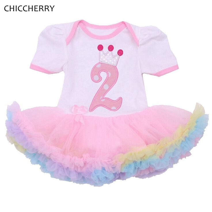 >> Click to Buy <<  Crown 2 Years Baby Birthday Dress Princess Infant Lace Tutu Dress Vestiso Infantil Toddler Girls Party Outfits Children Clothes #Affiliate