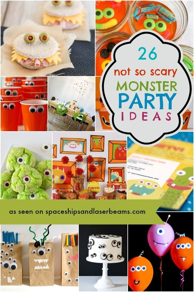 Silly Monster Party Ideas - Spaceships and Laser Beams