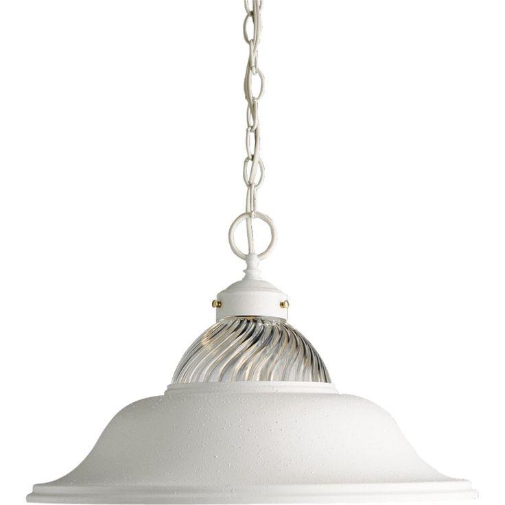 White 1-light Pendant