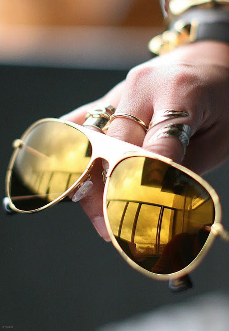 Emporio Armani  Aviator sunglasses in metal and nylon fibre with mirrored lenses