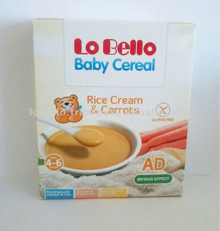 #BABY CEREAL Rice and Carrots, #Made in Italy Baby Cereals, #Infant Nutrition and Baby Food